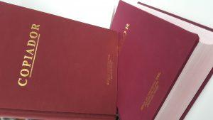 Copiado de libros contables
